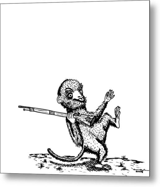 Rifle Monkey Metal Print by Karl Addison