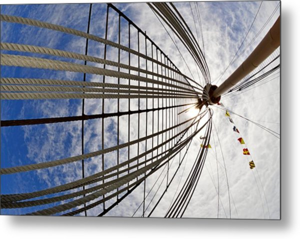 Rigging Of Queen Mary Metal Print