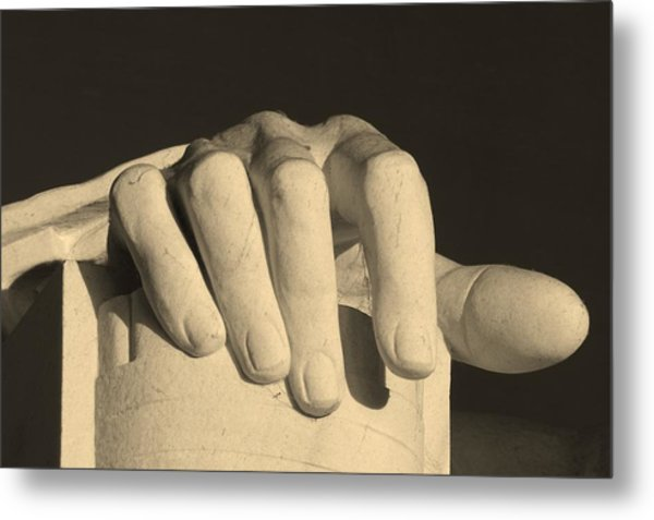 Right Hand Of The Man Metal Print