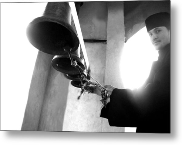 Ringing The Bells At The Monastery Metal Print