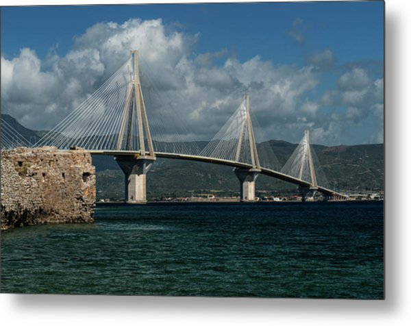 Rio-andirio Hanging Bridge Metal Print