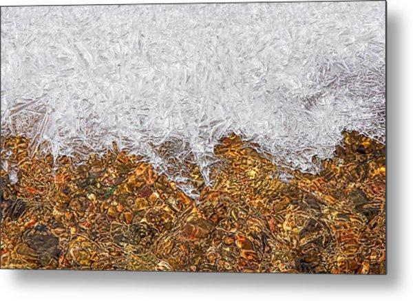 Rio Embudo Ice Metal Print