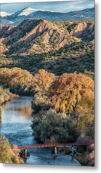 Metal Print featuring the photograph Rio Grande Embudo Vista by Britt Runyon