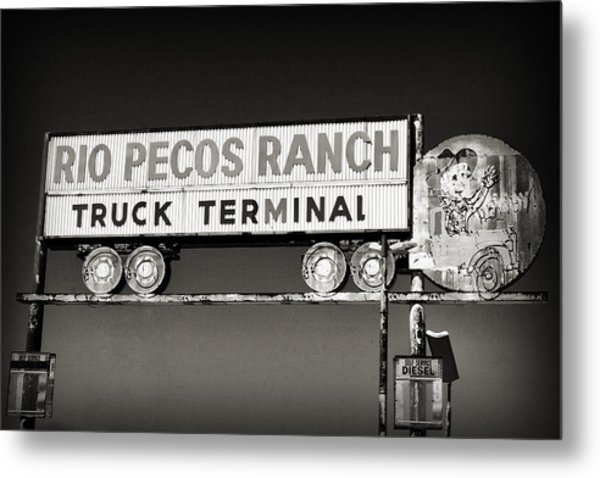 Rio Pecos Ranch Truck Terminal Metal Print