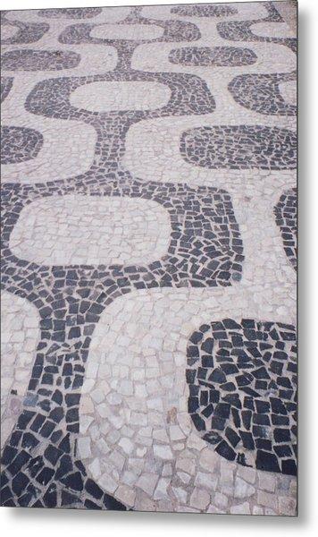 Rio Sidewalk Metal Print