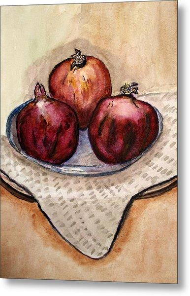 Ripe Pomegranates . Metal Print