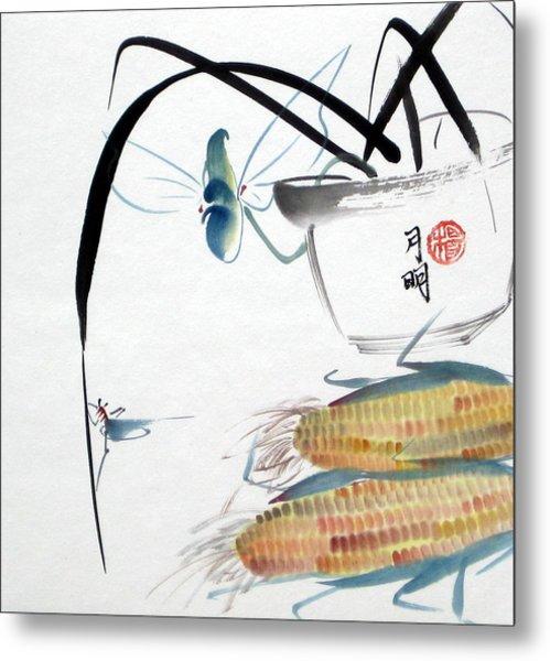 Ripen Corns Metal Print by Ming Yeung
