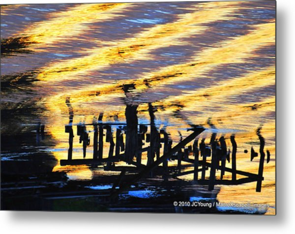Ripple Effects Of The Day Metal Print by JCYoung MacroXscape