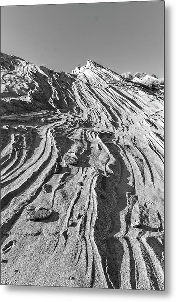 Rippled Sandstone At Waterhole Canyon Metal Print
