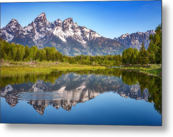 Ripples In The Tetons Metal Print