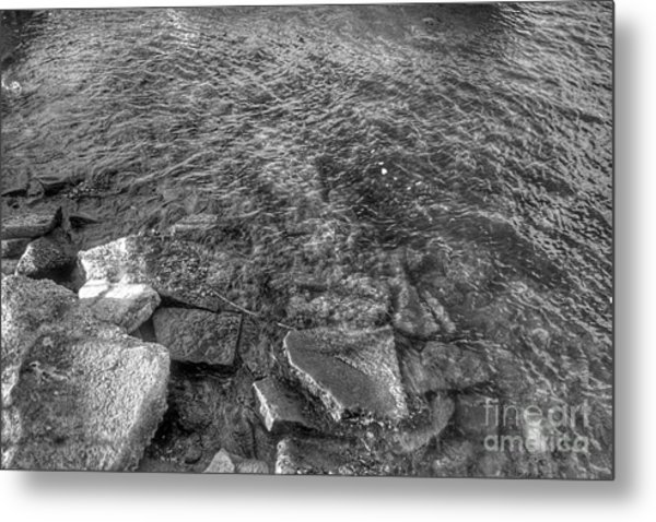 Ripples On Lake Champlain Metal Print