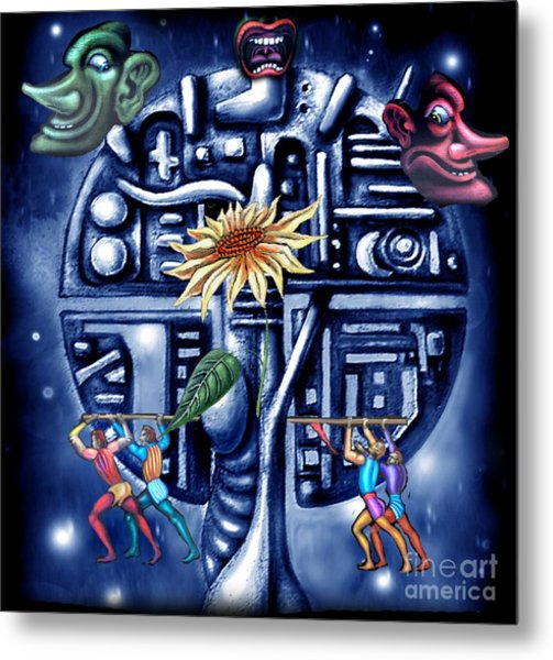 Rise Of The Machines Metal Print by Tighe O'DonoghueRoss