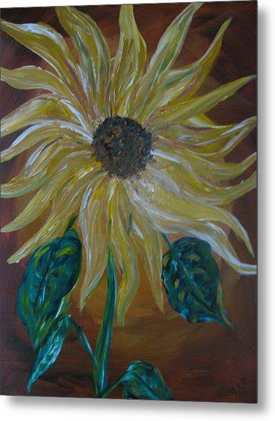 Rising Sunflower Metal Print by Dennis Poyant