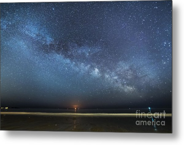 Rising Tide Rising Moon Rising Milky Way Metal Print