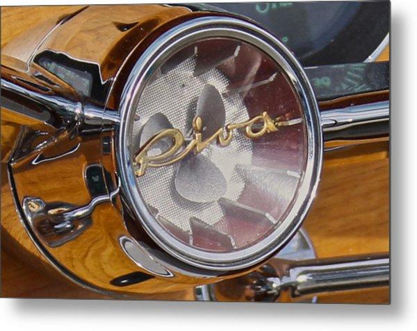 Riva Steering Hub Metal Print