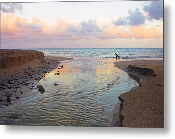 River And Sunrise- St Lucia Metal Print