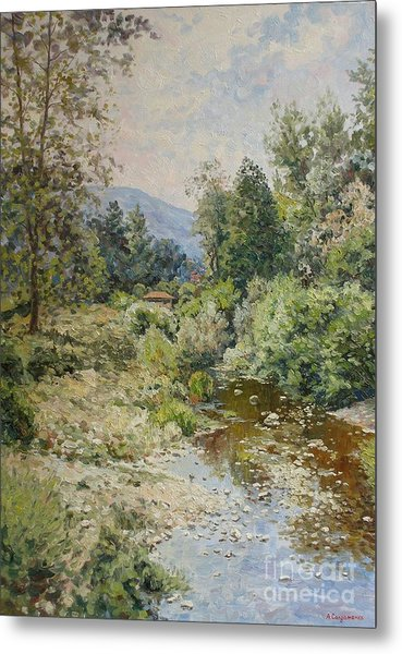 River At Bulgarian Foothills Metal Print by Andrey Soldatenko