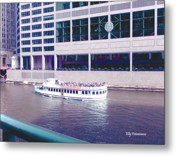 River Boat Tour Metal Print
