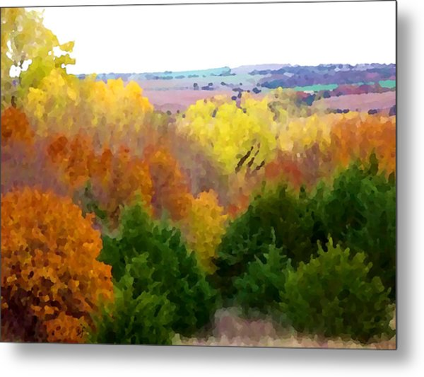 River Bottom In Autumn Metal Print