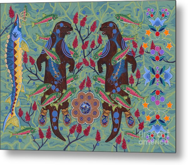 Metal Print featuring the painting River Spirit by Chholing Taha