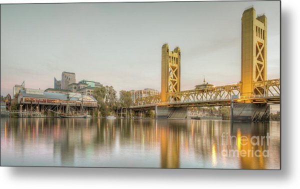 River City Waterfront Metal Print