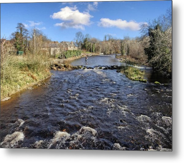River Drowse At Kinlough, Leitrim - One Of The Best Trout And Salmon Fishing Rivers In Ireland Metal Print