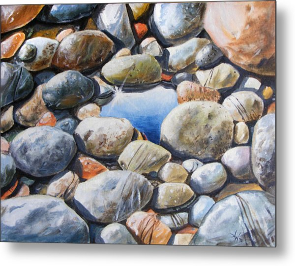River Gems Metal Print