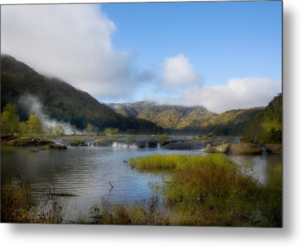 River In The Mountains Metal Print by John Mueller