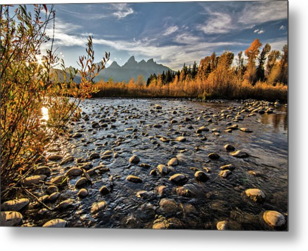 River In The Tetons Metal Print