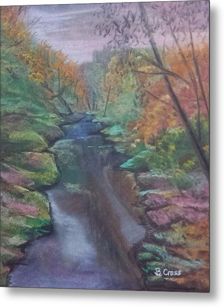 River In The Fall Metal Print