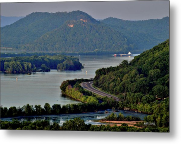 River Navigation Metal Print