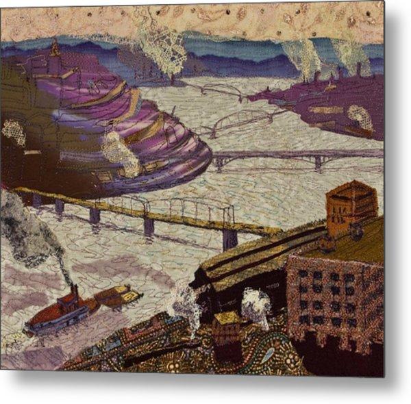 River Of Industry Metal Print