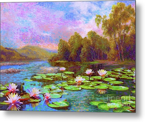 The Wonder Of Water Lilies Metal Print