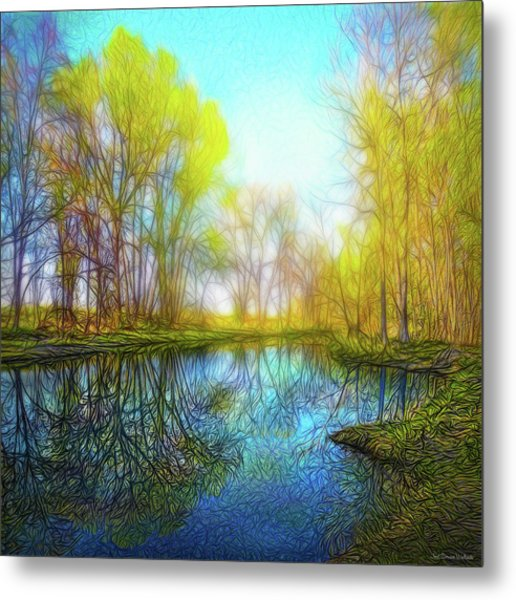 River Peace Flow Metal Print