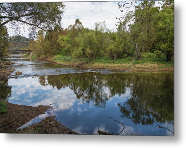 Metal Print featuring the photograph River Reflections by John M Bailey