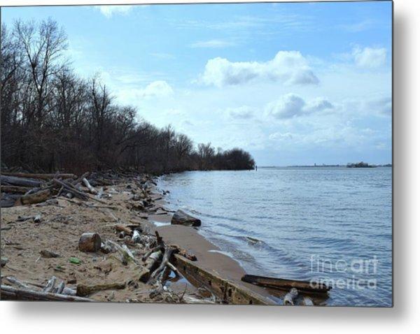 Delaware River Shoreline Metal Print