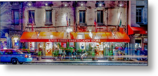 Metal Print featuring the photograph River Street Sweets Candy Store Savannah Georgia   by Alex Grichenko
