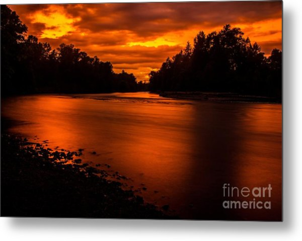 River Sunset 2 Metal Print