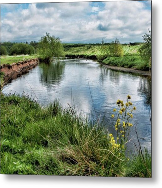 River Tame, Rspb Middleton, North Metal Print
