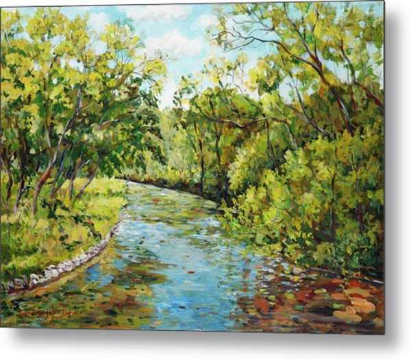 River Through The Forest Metal Print