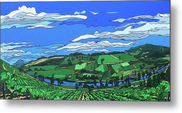 River Valley Vineyard Metal Print