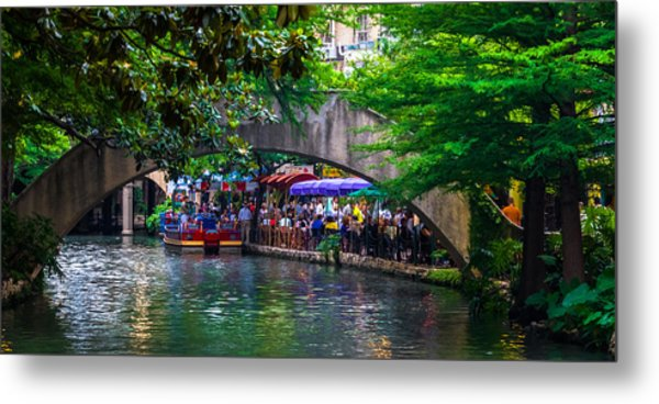 River Walk Dining Metal Print