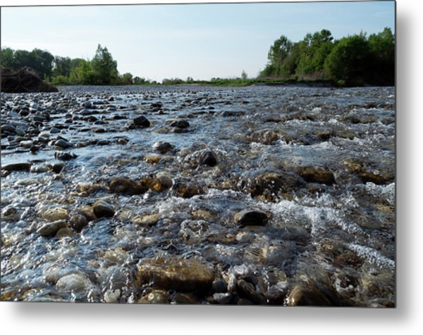 Metal Print featuring the photograph River Walk by Helga Novelli