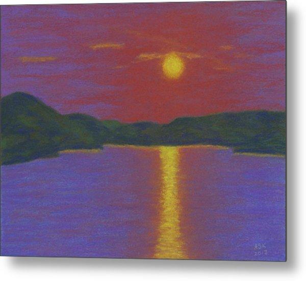 Riverboat Sunset Metal Print