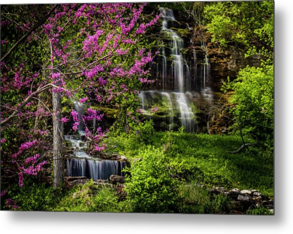 Rivercut Waterfall Metal Print