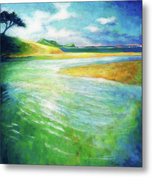 Metal Print featuring the painting Rivermouth by Angela Treat Lyon