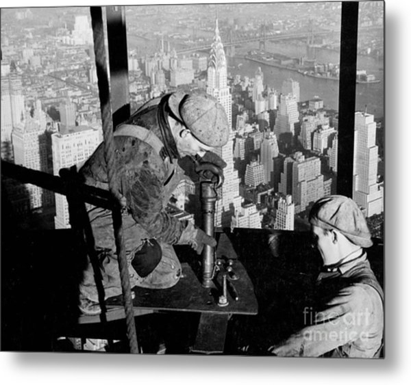 Riveters On The Empire State Building Metal Print