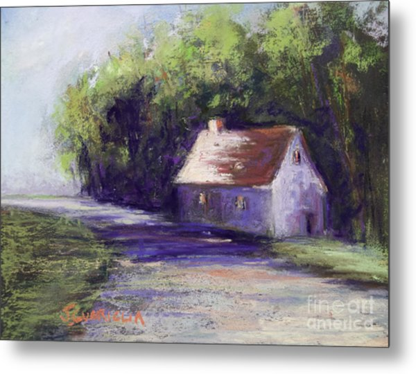 Road And House Metal Print by Joyce A Guariglia