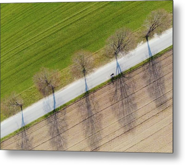 Road And Landscape From Above Metal Print