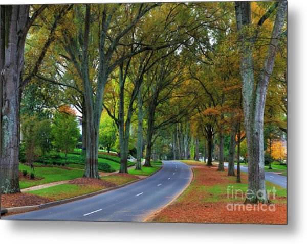 Road In Charlotte Metal Print